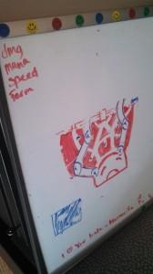 Whiteboard sketching